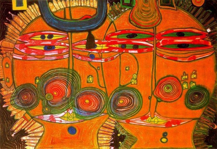 Resultado de imagen para friedensreich hundertwasser pinturas