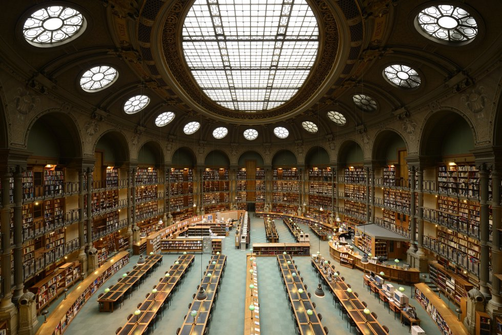 Biblioteca Nacional de Francia: Sala oval (1916) Arquitecto: Jean-Louis Pascal París (Ile de France) / foto en http://www.epdlp.com/