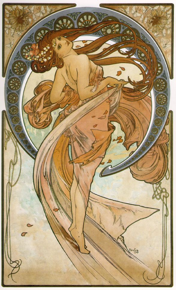 I've been really into Alphonse Mucha
