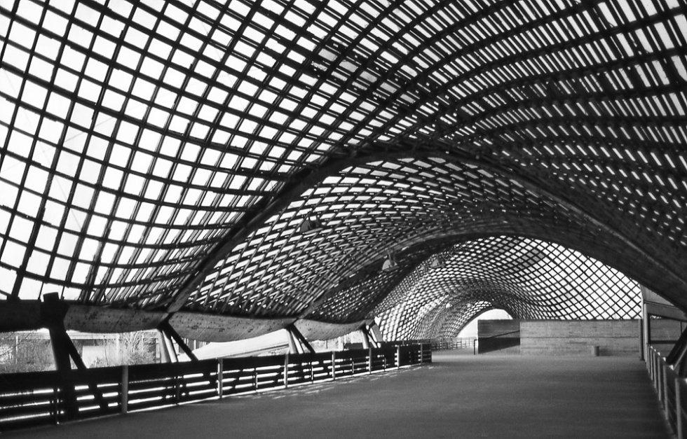 Cubierta para mannheim multihalle 1975 frei otto - Architektur mannheim ...