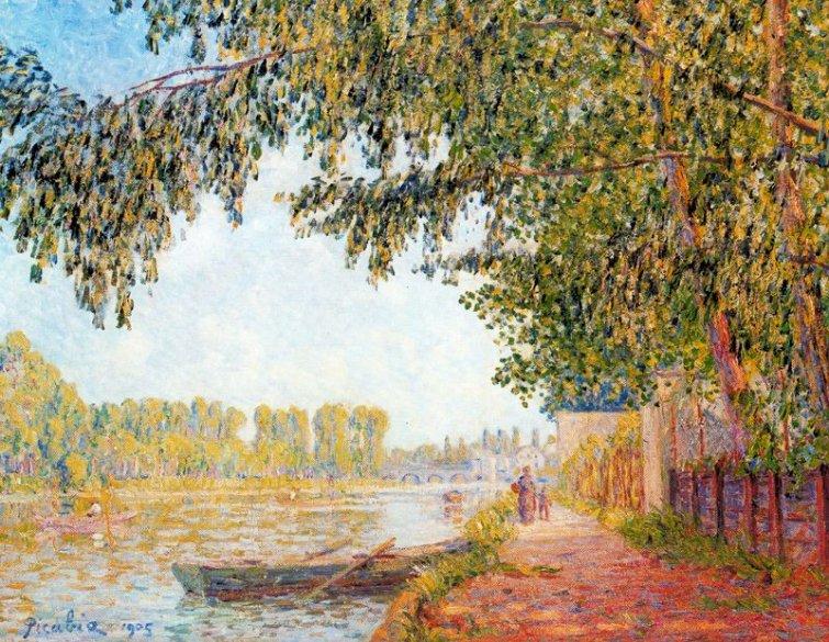 orillas del loing 1905 descripción óleo sobre lienzo 140 x 185 cm ...