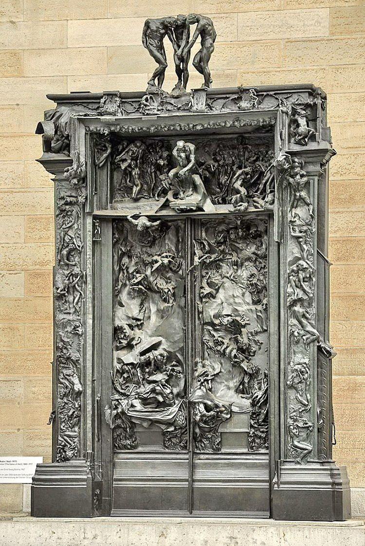 Puertas del infierno 1917 auguste rodin for 9 puertas del infierno