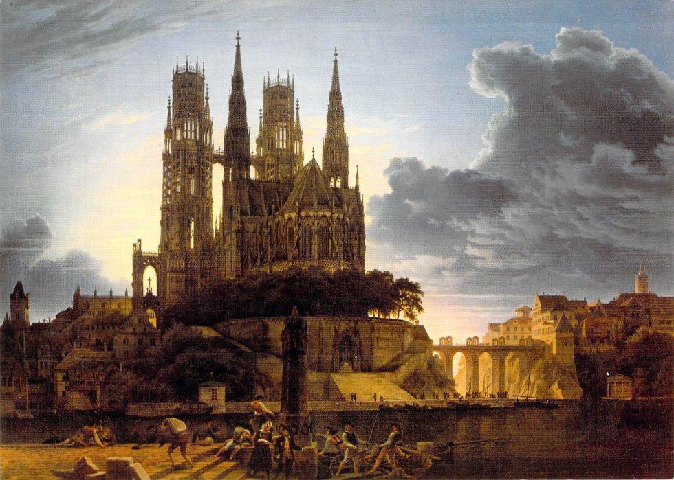 Karl Friedrich Schinkel: Catedral sobre el mar, 1814
