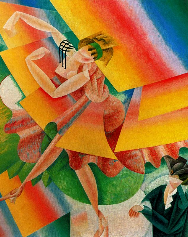 Danseuse 1915 gino severini for Tecnicas vanguardistas
