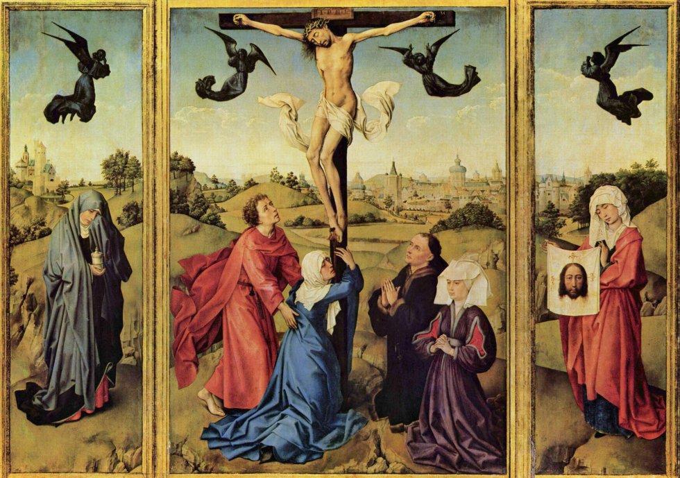 Tr�ptico de la Crucifixi�n (1440) Rogier Van der Weyden
